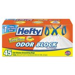 Lemon Scented Odor Block 13 Gallon Trash Bags
