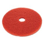 Red Standard 19 in. Round Buffing Floor Pads