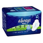 Always Super Absorbency Long w/Wings 8 Count