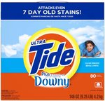Tide Ultra w/a Touch of Downy Powder Detergent Clean Breeze 148 Oz.