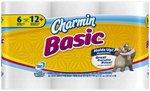 Charmin Basic Double Roll 6 Rolls