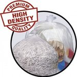 Pitt Plastics High-Density 14 Micron 40-45 Gallon Mini-Roll Liners Clear