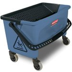 Blue, Microfiber Finish Bucket-27 Gallon