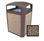 ANDMARK SERIES Coral Aggregate Panels for 35 Gal Containers