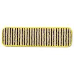 HYGEN Yellow/Black 18 in. Microfiber Scrubber Mops