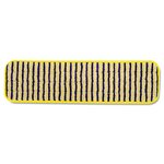 HYGEN Yellow/Black 18 in. Microfiber Scrubber Mops