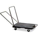 Triple Black 250 lb Cap Trolley Utility Duty w/ Straight Handle