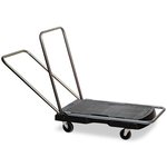 Triple Black 500 lb Cap Trolley Utility Duty w/ Straight Handle