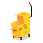 Yellow Wavebrake 26-Quart Side Press Mop Bucket & Wringer