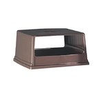 Brown Commercial Glutton Hoop Top Receptacle Lid