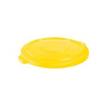Vented Brute 44 Gallon Trash Can Lid, Yellow