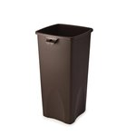 Commercial Square Base Receptacle,23 Gallons, Brown