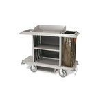 Full-Size Housekeeping Cart, 1-Shelf