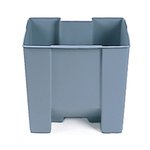 Gray, Plastic 19 Gallon Step-On Rigid Liner