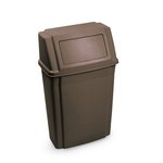 Wall-mounted Container, Rectangular Plastic 15 Gallon, Brown