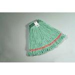 Green, Medium Cotton/Synthetic Web Foot Wet Mops- 1-in Green Headband