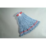 Blue, Large Sized Cotton/Synthetic Web Foot Looped-End Wet Mop Head