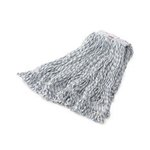 White, Large Cotton Synthetic Web Foot Finish Mops-1-in White Headband