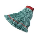 Blue, Large Cotton/Synthetic Swinger Loop Wet Mop Heads