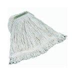White, Medium Cotton Super Stitch Mop Heads-1-in Green Headband