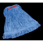 Blue, Large Cotton/Synthetic Super Stitch Blend Mop Heads