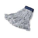 White, Medium Cotton/Synthetic Super Stitch Finish Mops-5-in Blue Headband