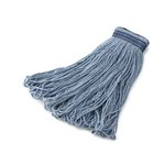 Blue, 24-oz Cotton/Synthetic Universal Headband Mop Heads