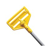 Gray and Yellow, Invader Aluminum Side-Gate Wet-Mop Handle-54-in