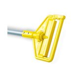 Gray And Yellow, Invader Fiberglass Side-Gate Wet-Mop Handle-54-in