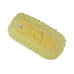 Yellow, Looped End Trapper Commercial Dust Mop- 5 x 12