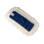White, Cotton Kut-A-Way Cut End Dust Mop Heads-18 x 5