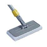 Gray, Plastic Upright Scrubber Pad Holder with Universal Locking Collar