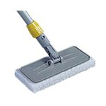 Gray, Plastic Upright Scrubber Pad Holder with Threaded Adapter