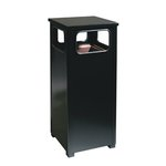 Brown Steel, 12 Gallon Square Flat Top Waste Receptacle
