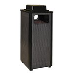 Ash/Trash Receptacle with Weather Urn, Steel, 12 Gallon, Brown