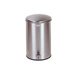 Square Steel Step Can, 3.5 Gallon, Stainless Steel