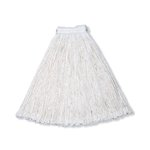 White, 24-oz Cut-End Economy Cotton Mop Heads-1-in White Headband