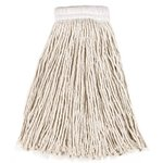 White, 16-oz Cut-End Economy Cotton Mop Heads-5-in White Headband