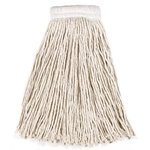White, 24-oz Cut-End Economy Cotton Mop Heads-5-in White Headband