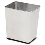 Stainless Steel Rectangular Wastebasket- 7.25 Gallon