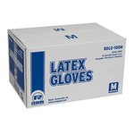 Latex Gloves, Powder-Free, Medium, White