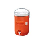 Orange, Water Cooler-12.5dia x 16.75h