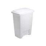 White, Step-On Waste Basket-33 Quart