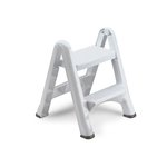 White, EZ Step Two-Step Folding Stool- 19.5 x 20.6 x 22.7