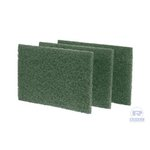 Green, 10 Count Medium-Duty Scouring Pad-6 x 9