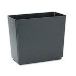 Designer 2 Black Plastic Rectangular Wastebasket, 6.5 Gal