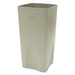 Beige, Square Plastic Plaza Waste Container Rigid Liner- 19 Gallon