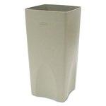 Beige, Square Plastic Plaza Waste Container Rigid Liner- 19 Gallon