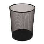 Black, 5 Gallon Round Steel Mesh Wastebasket
