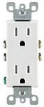 15 Amp Tamper Resistant (TR) Decora Receptacle Outlet, White